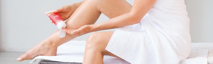 Intensiv hudvård under kompressionsbehandlingen